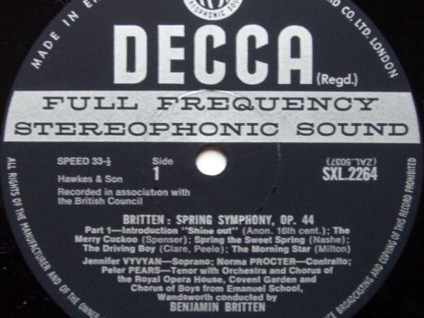 DECCA SXL-WB-ED3 / BRITTEN, - Britten Spring Symphony, NM!