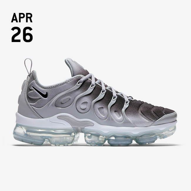 NIKE AIR VAPORMAX PLUS - WOLF GREY/BLACK-WHITE