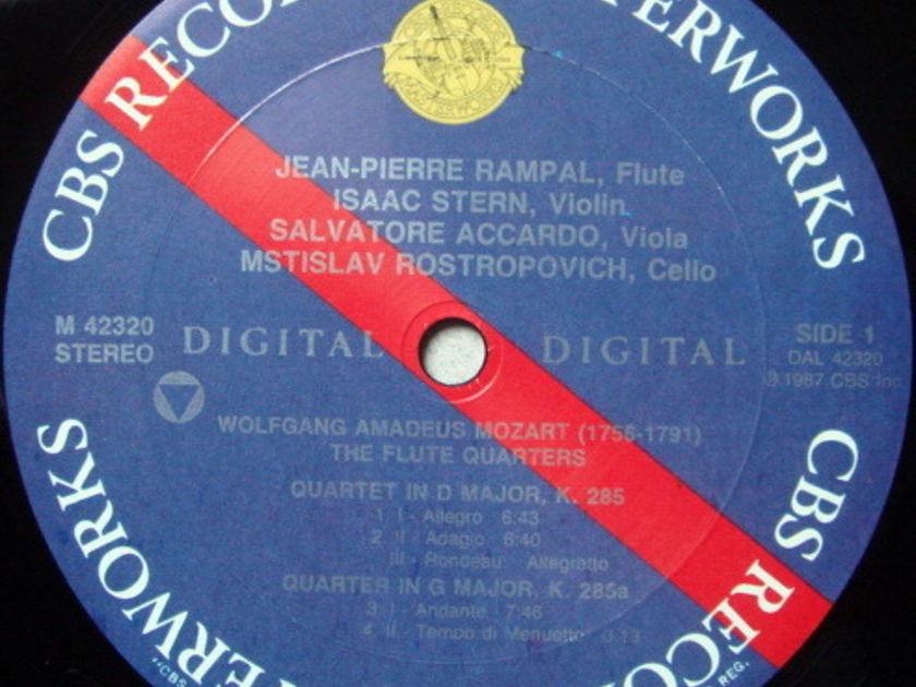 CBS Digital / ROSTROPOVITCH-STERN-RAMPAL, - Mozart Flute Quartets, MINT, Promo Copy!