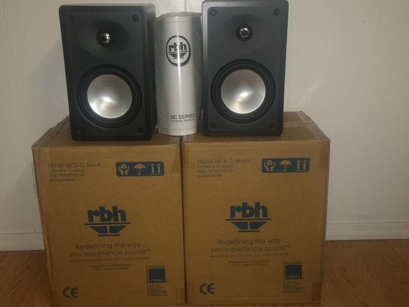RBH Sound / EMPTek MC-6C Black Oak Bookshelf Speakers