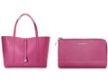 Tiffany's Raspberry Tote Bag and Zip Pouch