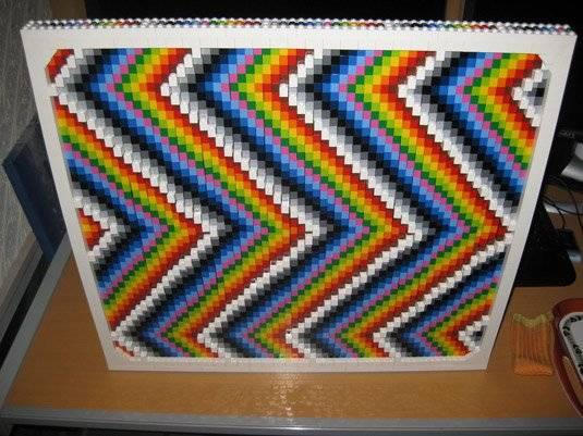 LEGO framed rainbow