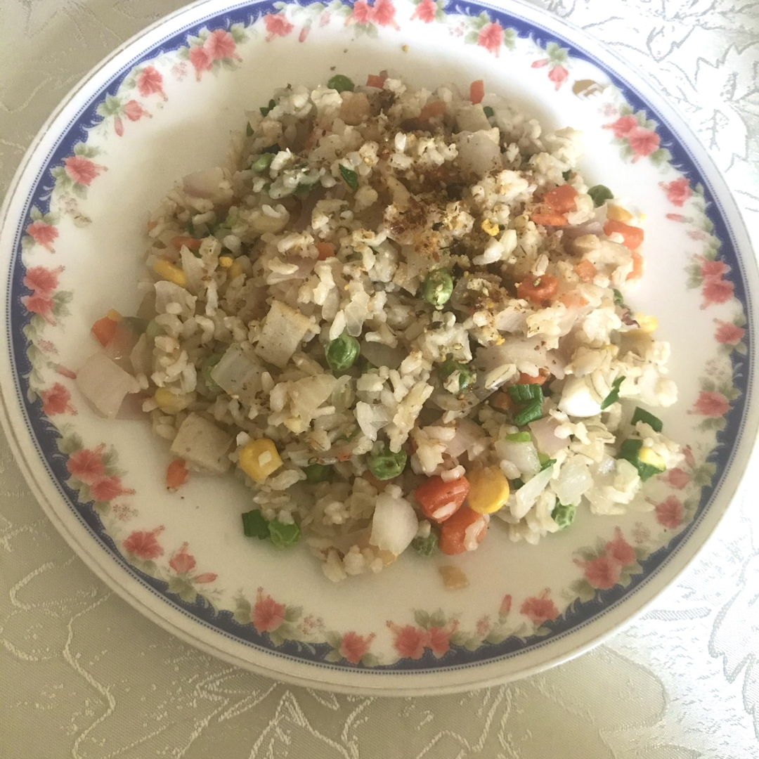 Fried rice with bonito flakes 🌼😃