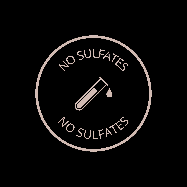 No sulfates logo