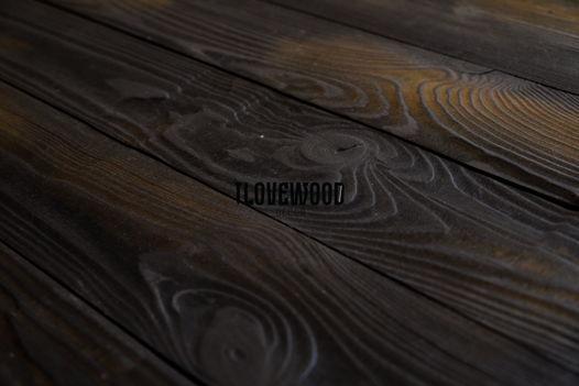 Деревянный фотофон. Фактурный (брашированный) черно-коричневый