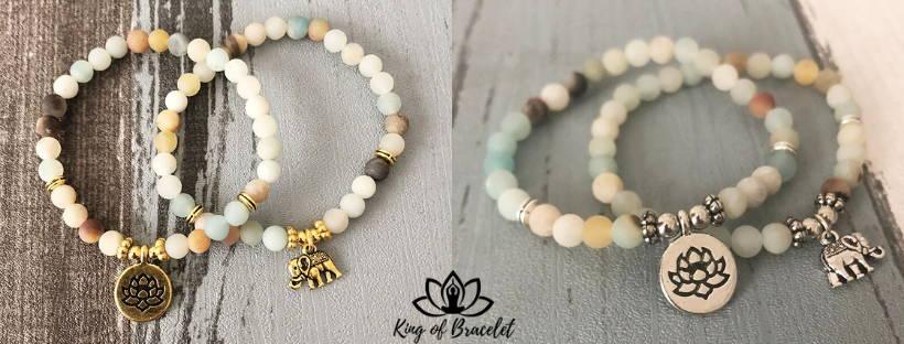 Bracelet Éléphant en Amazonite - King of Bracelet