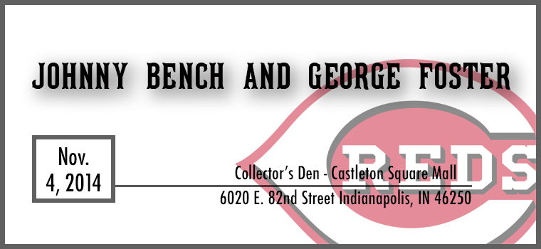Johnny Bench and George Foster Autograph Signing