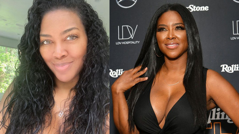 kenya Moore natural hair styles