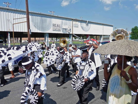 "204 Charles M. Lovell Art/Photography - ""Young Men Olympian Junior Benevolent Association Second Line"""