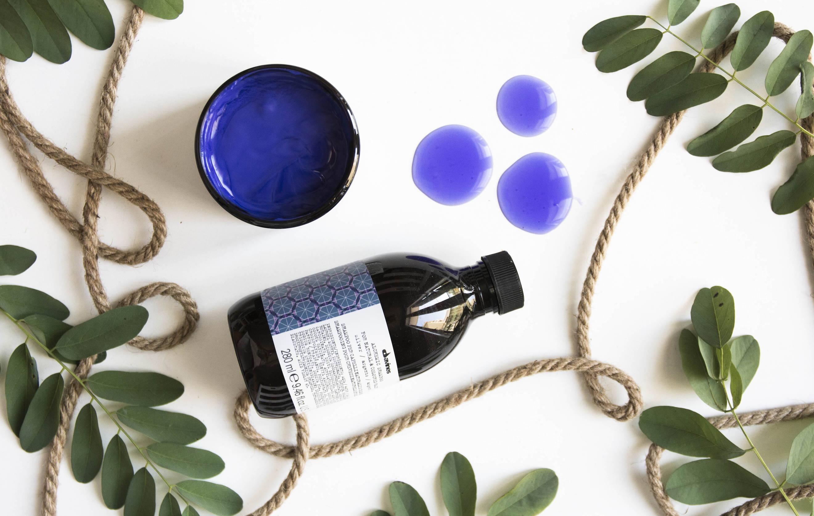 Davines purple shampoo conditioner Alchemic Silver
