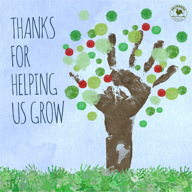 Thanks for helping us grow!