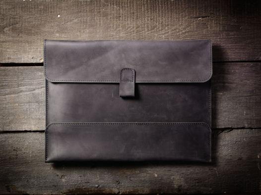 Папка для документов А4 / Чехол для MacBook 13` -SOLID- цвет Черный Уголь