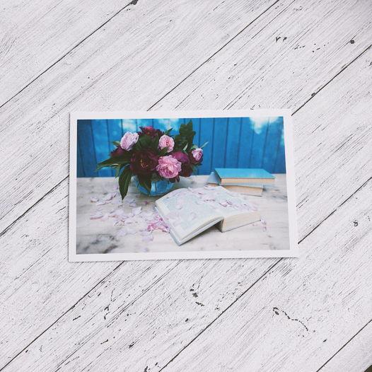 """почтовая открытка с авторской фотографией """"пионы"""""""