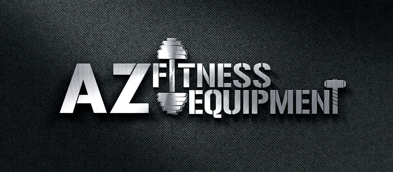 AZ Fitness Equipment Logo with Dark Background