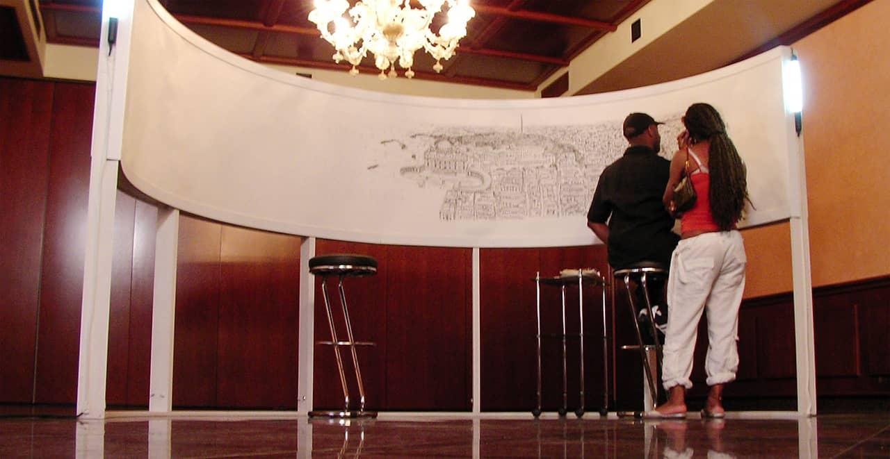 Stephen Wiltshire draws Rome Panorama