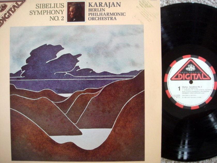 EMI Angel Digital / KARAJAN, - Sibelius Symphony No.2, NM, Promo Copy!