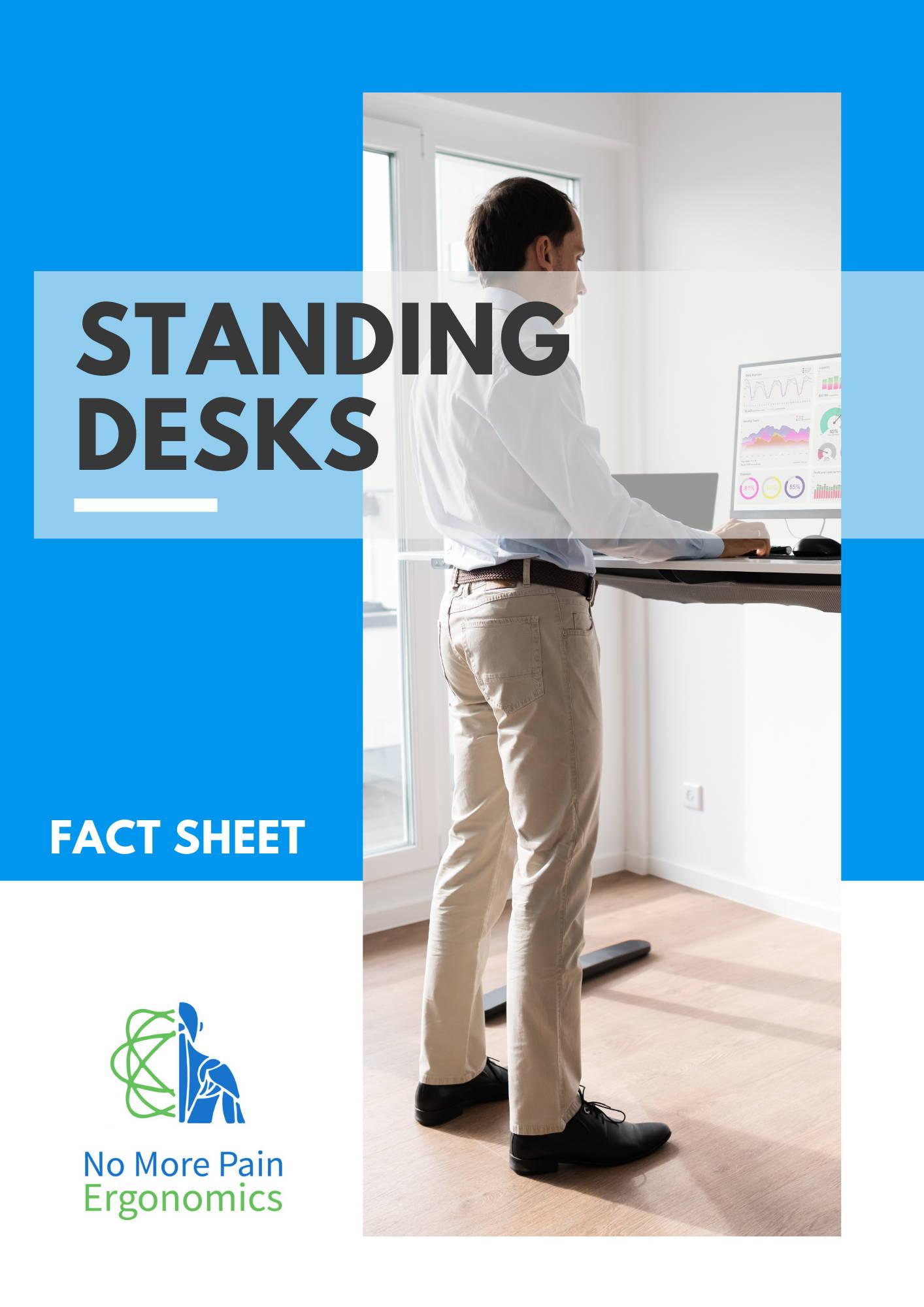 standing desk height adjustable fact sheet resource guide
