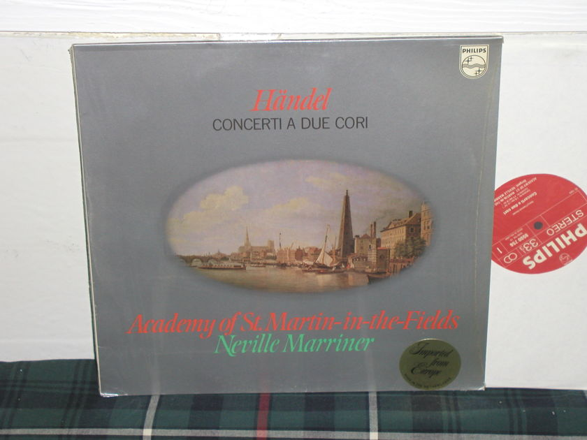 "Marriner/AoStMitf - Handel ""Concerti A Due Cori"" Philips Import pressing 9500 756."