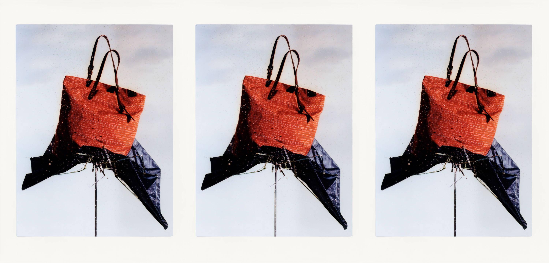 Natalie Waxed Cotton Print Handbag in Rust