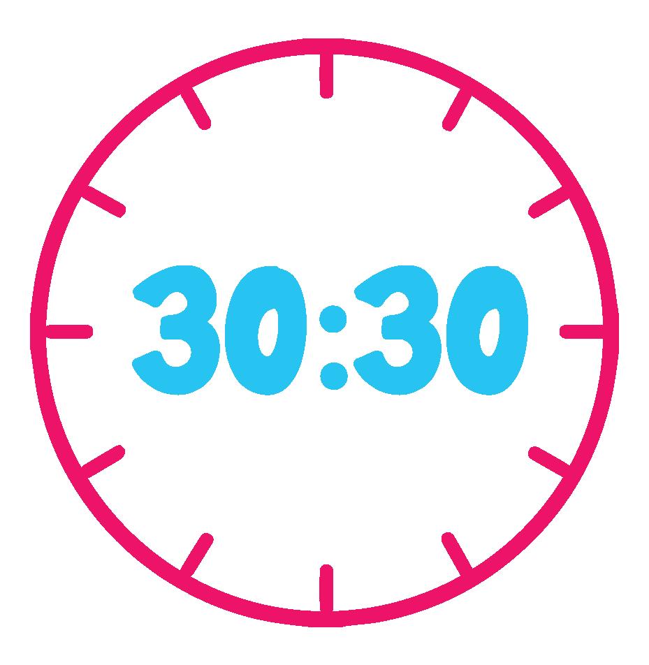 30:30 Clock Graphic