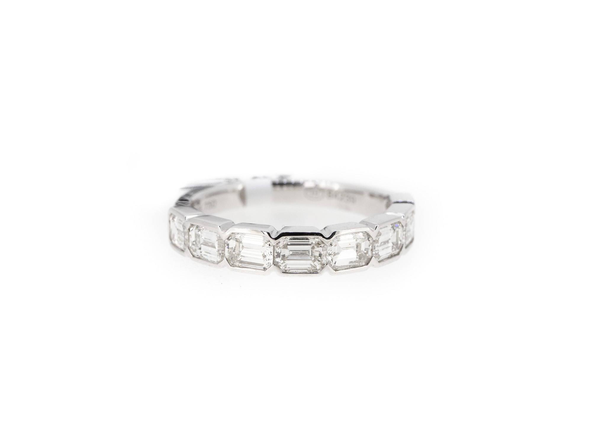 emearld cut diamond band