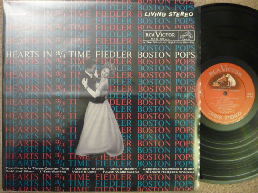 HEARTS IN 3/4 TIME  - FIEDLER BOSTON POP  RCA SD LP EXCEL