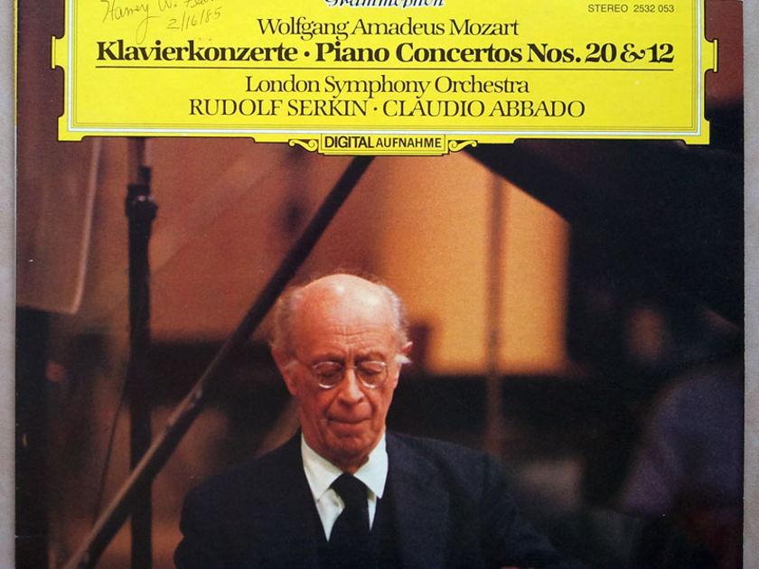 DG Digital/Serkin/Abbado/Mozart - Piano Concertos Nos. 20 & 12 / NM