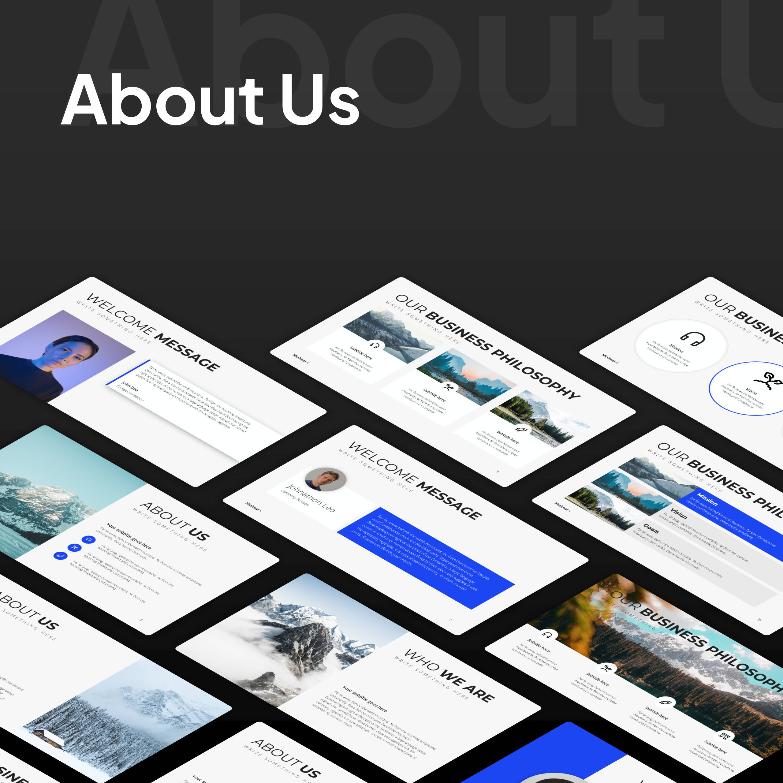 Modern X Consulting Firm Proposal Presentation Template
