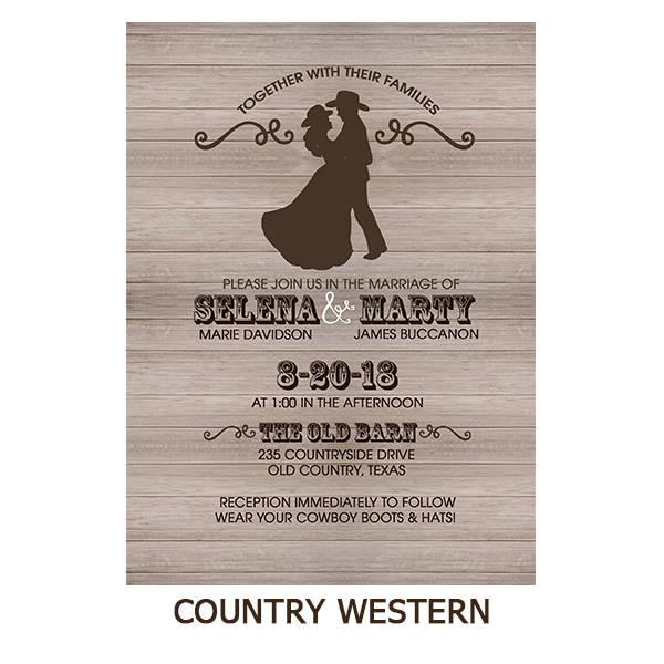 Country Western Couple Wedding