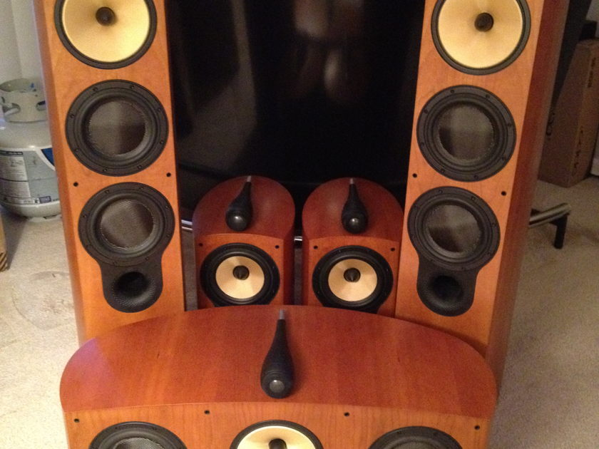 B&W 804s 805s htm3s surround system in Cherry with OPTIONAL SCM1