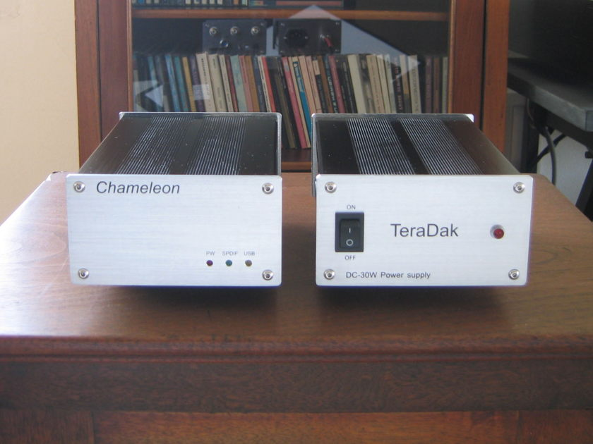 Teradak Zero Oversampling Chameleon USB / Rca-Coax / Optical DAC Outboard-Psu 96K / 24 Bit  ++Wonderlink i/c