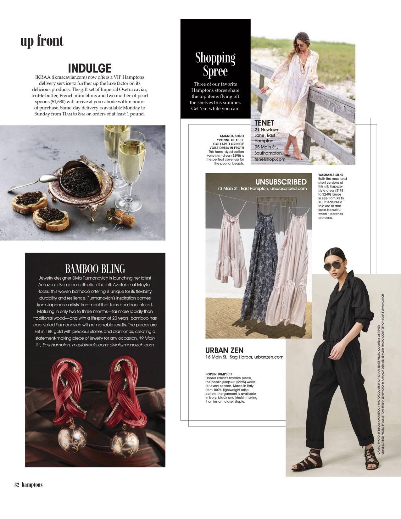 IKRAA caviar in Hamptons magazine. VIP Caviar delivery