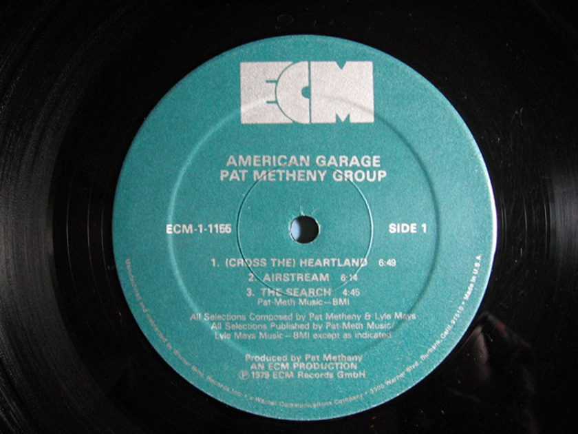 Pat Metheny Group  - American Garage - 1979 ECM Records ‎ECM-1-1155