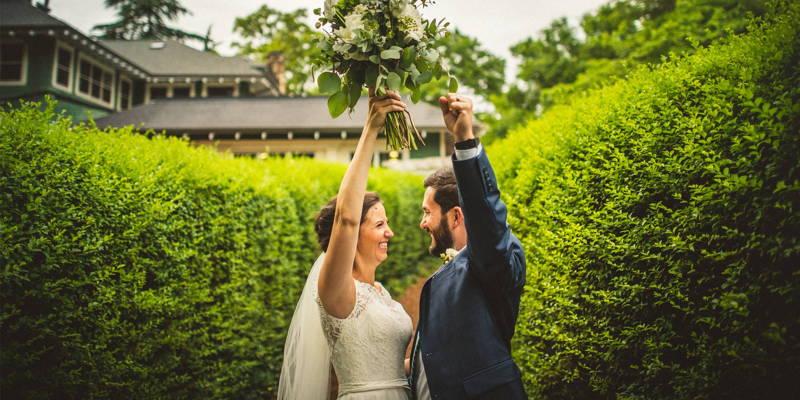 Romantic Emerald Green & Navy Wedding