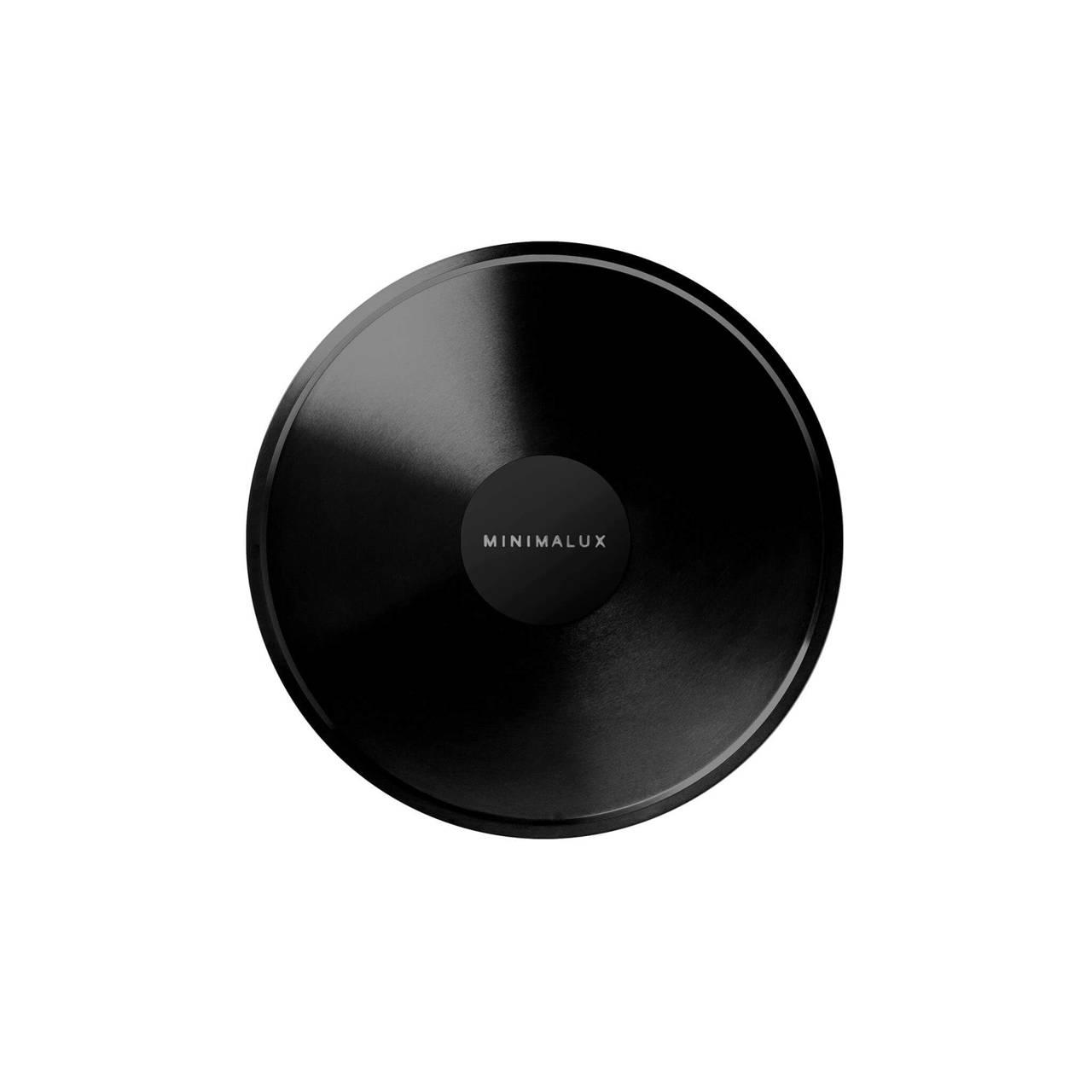 Black Nickel plated A Candleholder base detail