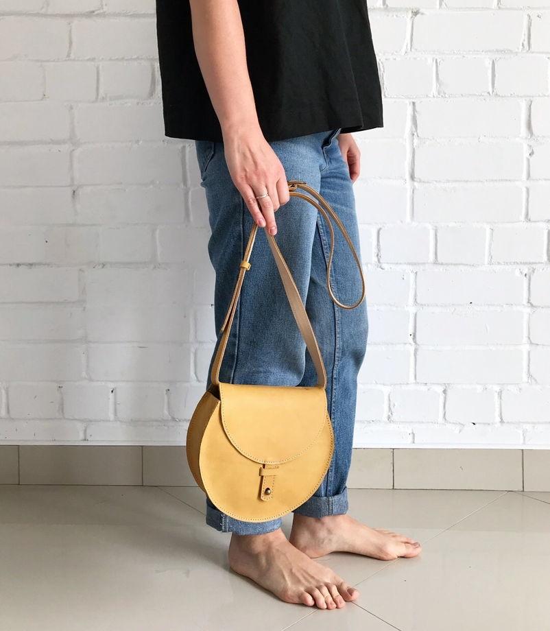 Кожаная сумка Round Wheat Field