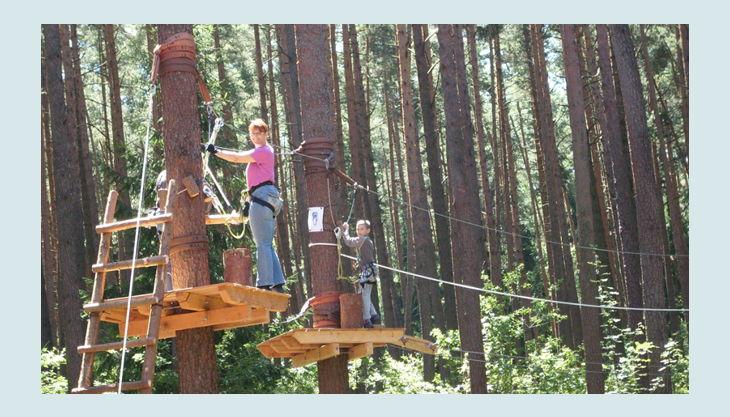 bester geburtstagde kletterwald weiherhof bäumde platform seile höhe