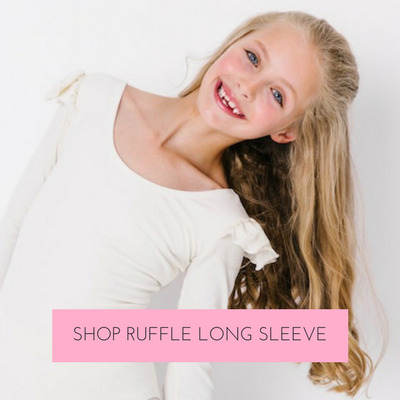Launched in 2017 by popular demand, the ruffle long sleeve leotard has quickly become a customer favorite.