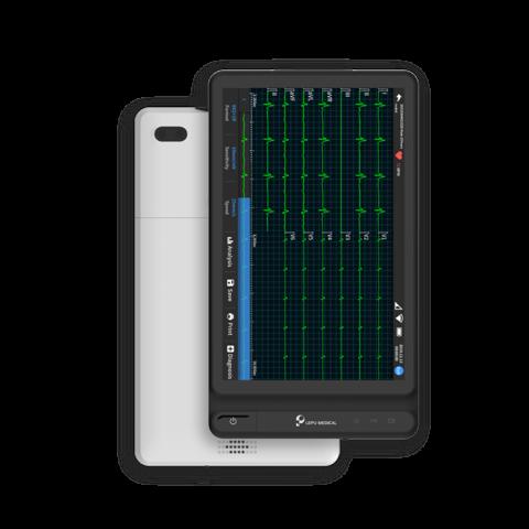 Equipo de ECG inteligente basado en tableta Wellue Lepu Medical de 12 derivaciones.