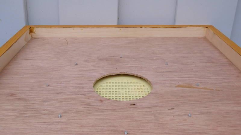 Die Bienenflucht von oben