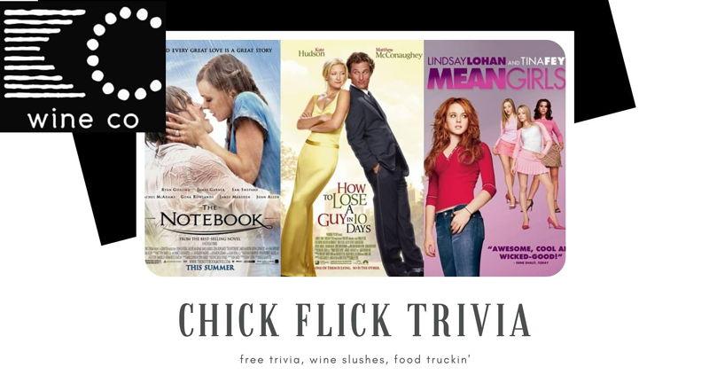 FREE Chick Flick Trivia at KC Wine Co Vineyard & Winery