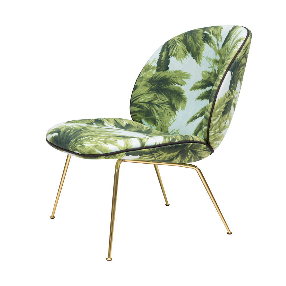 GUBI Beetle Lounge Chair in Tropical Upholstery