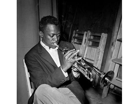 "Herman Leonard. ""Miles Davis, Birdland, NYC"""