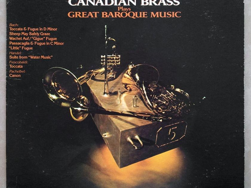 RCA   CANADIAN BRASS - Baroque Music of - Bach, Handel, Pachelbel, Frescobaldi / NM