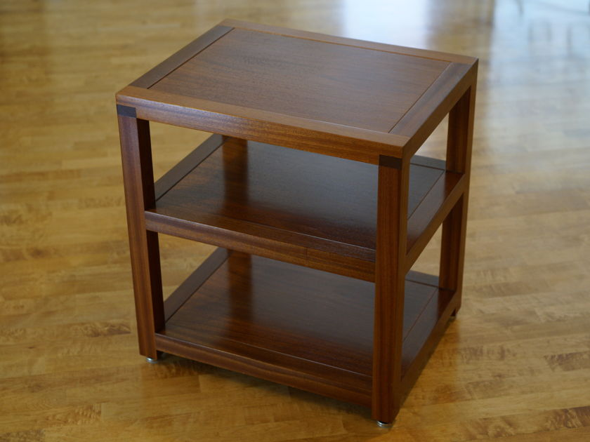 Box Furniture Co. Single Width Audio Rack - 3 Shelf - Sapele
