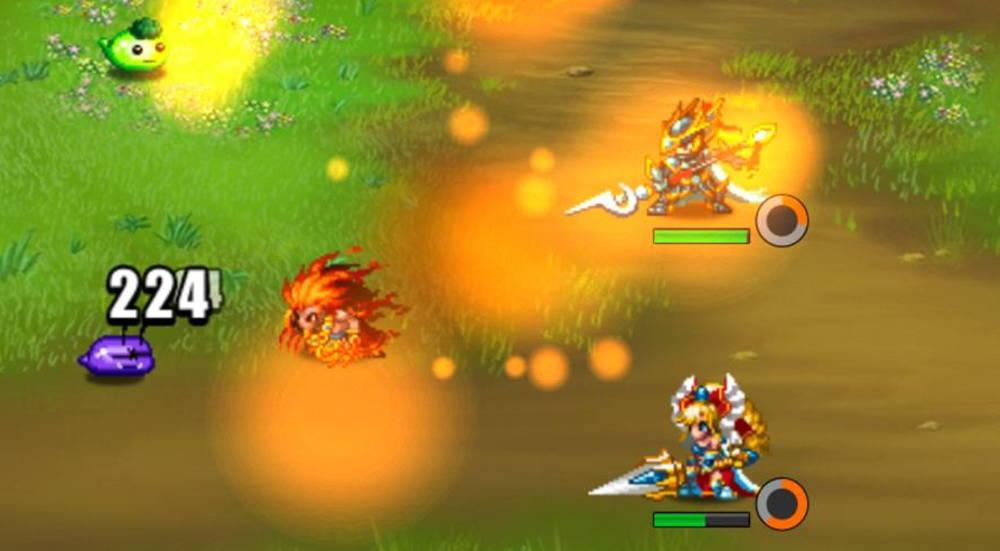 Brave Frontier Heroes battle gameplay