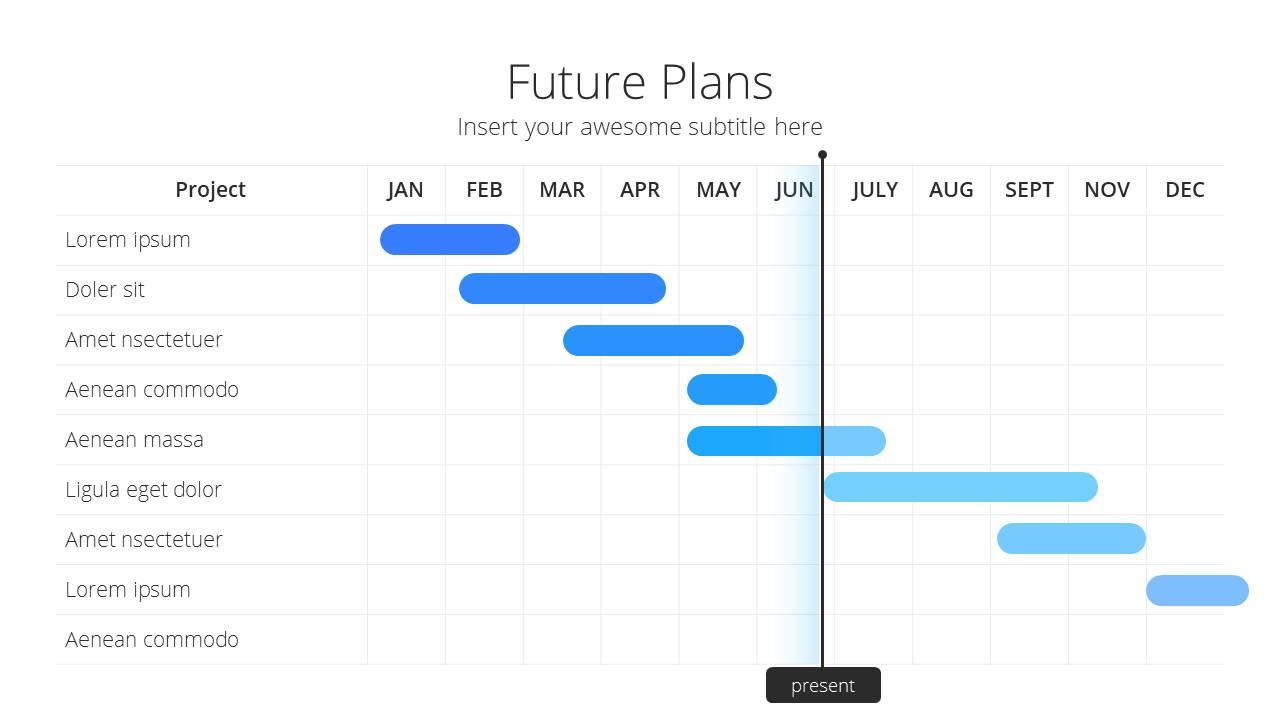 Modern X Pitch Deck Presentation Template Future Plans