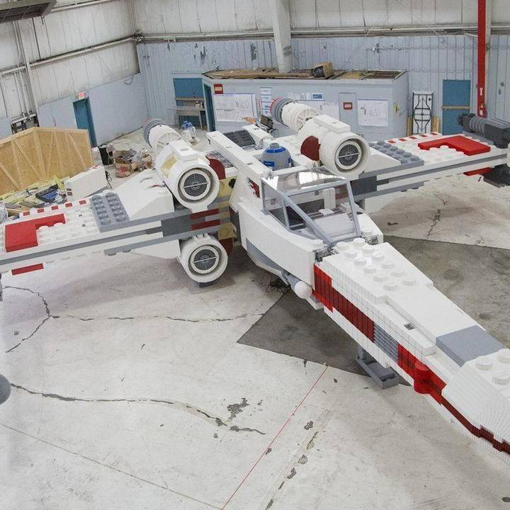 Life-sized X-Wing fighter