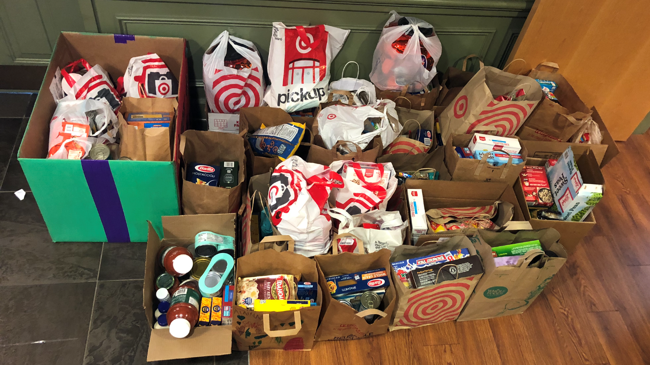 picture of donated food
