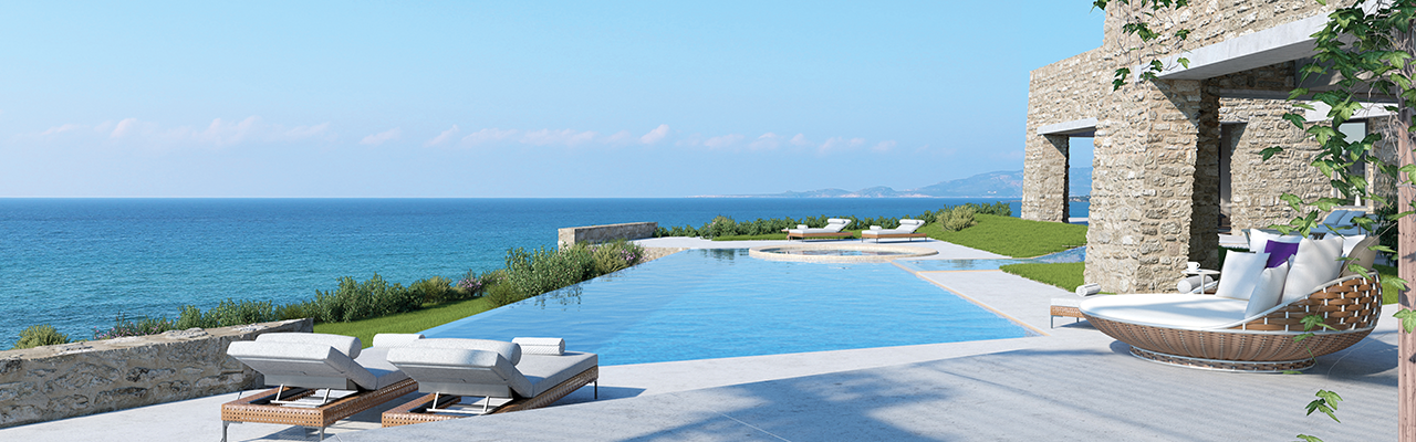 Hamburg - The Sea Dunes area of the Costa Navarino Resort is one of the few areas that offers such a view of the Mediterranean Sea.